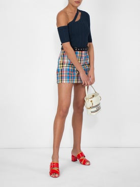 Marques'almeida - Belted Check Mini Skirt - Women
