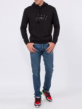 star logo hoodie BLACK