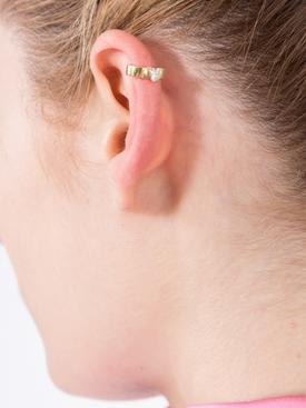 Heart Shaped Diamond Ear Cuff