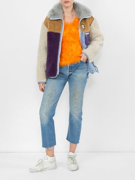 Marine Serre - Fluffy Knitted Sweater - Long Sleeved