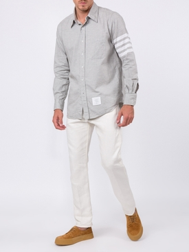 Straight fit 4-bar Solid Stripe Shirt GREY
