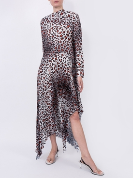 Multicolored leopard print maxi dress