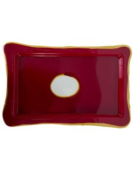 Multicolor rectangular tray