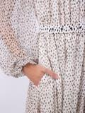 Adam Lippes - Speckle Print Chiffon Maxi Dress - Women