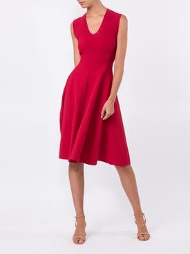 KNIT SLEEVELESS dress RED