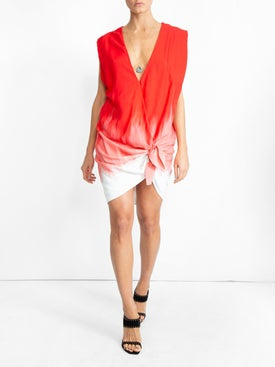 Carmen March - Gradient Knot Blouse Dress - Women