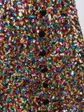 Attico - Sequinned Mini Balloon Sleeve Dress Multicolor - Long-sleeve
