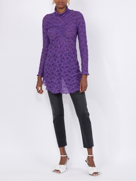 Willie lace ruched top PURPLE