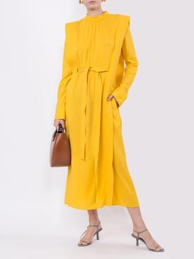 yellow panel dress
