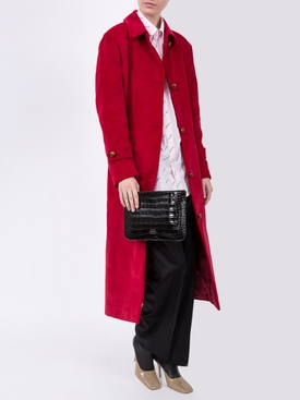 Long red coat