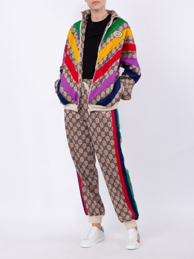 multicolor chevron GG Supreme jacket