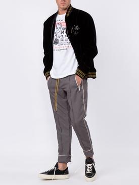 sequin-embellished velvet bomber jacket