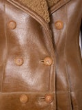 Chloé - Double-breasted Leather Coat - Women