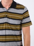 Ami Alexandre Mattiussi - Short Sleeve Striped Polo Shirt With Ami Label - Men