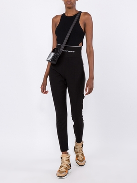 sleeveless cut out bodysuit BLACK