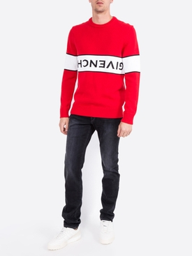 reverse logo jumper RED