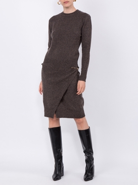 Pinned Wrap Waist Dress