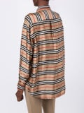 Burberry - Striped Cardi-shirt Neutral - Blouses