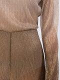 Halpern - Wide Leg Lamé Jumpsuit - Women