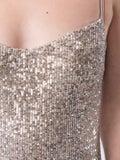 Galvan - Glitter Bustier Dress - Women