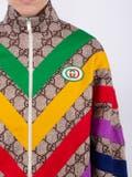 Gucci - Multicolor Chevron Gg Supreme Jacket - Women