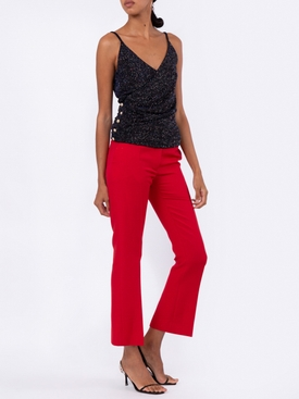 cross-front shimmer top