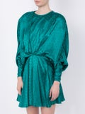 Attico - Dolman Sleeves Minidress Green - Women