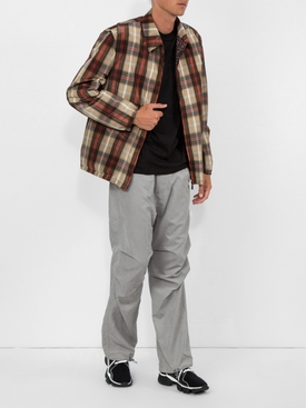 Lightweight checked jacket