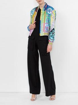 Versace - Baroque Print Bomber Jacket - Women