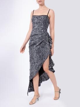 leopard-print asymmetric dress