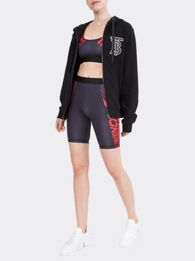 Givenchy - Logo Print Cycling Shorts Black/red - Women