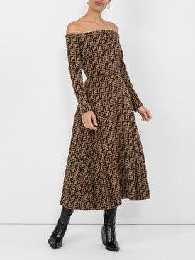 Fendi - Off-shoulder Monogram Dress - Women