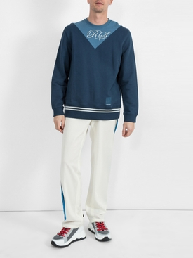 two tone sweatshirt BLUE