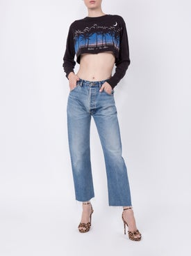 Re/done - Re/done X Attico Cropped Sunset Long Sleeve Top - Women