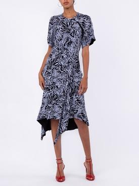 black and blue zebra print dress