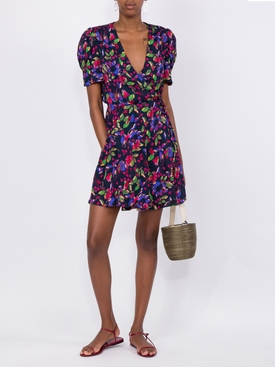 LEA WRAP MINI DRESS