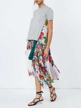 Sacai - Asymmetric Pleated Skirt - Midi
