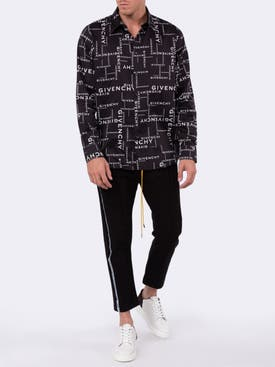 Givenchy - Black And White Logo Print Shirt