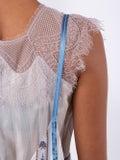 Lanvin - Floral Lace Trim Dress - Women