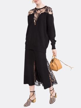 lace slit skirt BLACK
