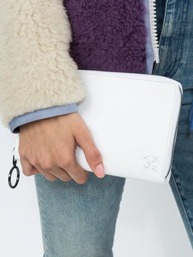 Off-white - White Leather Wallet Bag - Women