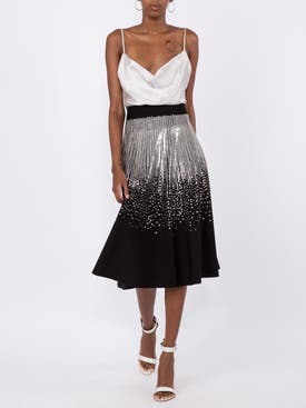 Givenchy - Flared Sequin Midi Skirt - Women