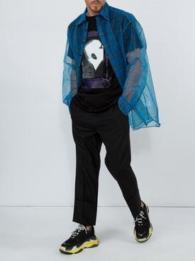 Raf Simons - Long Sleeve Transparent Shirt With T-shirt Blue - Men