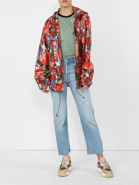floral zipped jacket