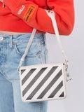 Off-white - Diagonal Stripe Binder Bag Off-white & Black - Women