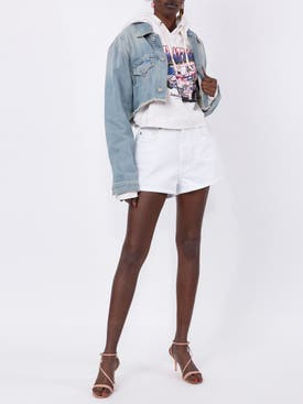 Givenchy - White Denim Shorts White - Women