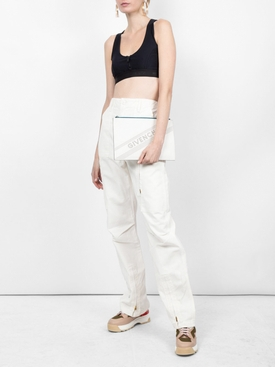 zip-up bra top BLACK