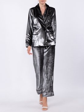 silver shimmer trousers