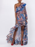 Dundas - Asymmetrical Billowing Dress - Women
