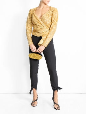 sequinned top GOLD